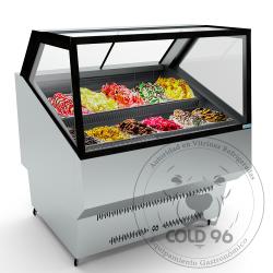 exhibidor de helados artesanales modelo kubo